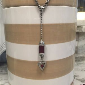 Brighton red heart drop pendant necklace